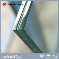 Large size Hurricane-Resistant Dupont SGP Laminated Glass