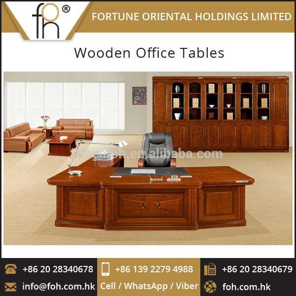 Right Return Cherry Wood Office Computer Desks for Executive (FOH-K3278)
