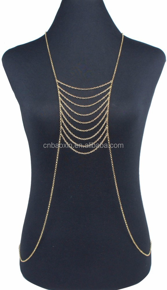 Wholesale women sexy Gold Full body chain jewelry