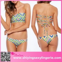 2015 Summer Beach Vacation Neon Rosy brazilian bikini