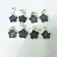 LS-D3389 Tiny Drusy Druzy Star Pendants With Silver Plated