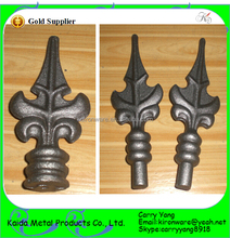 Top Quality Wrought Iron Material Ornamental Metal Spearheads for Sale