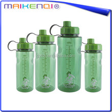 Newest design high quality smart water bottle sizes and eco-friendly water bottle