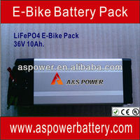 CE Approved 36V 10Ah Li ion Electric Bike Batteries with EU Charger