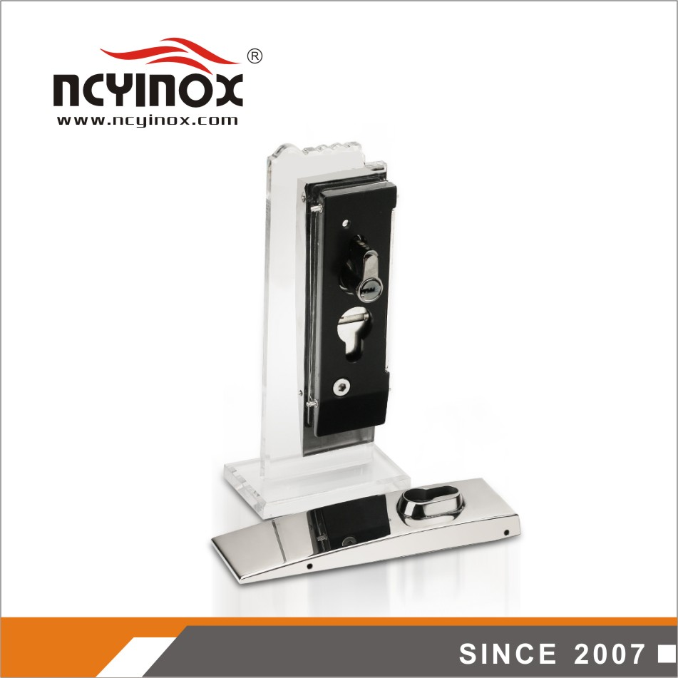 Chinese supplier stainless steel bottom center glass door lock