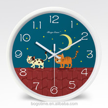 lovely animals design plastic cheap wall clocks promotional wall clocks for kids