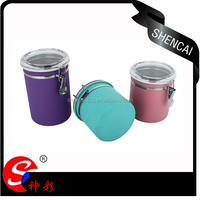 4pcs Stainless steel canister/Storage bottle with lid