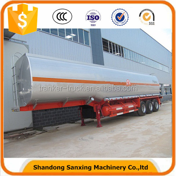 Gasoline fuel oil tanker truck tank with high capacity
