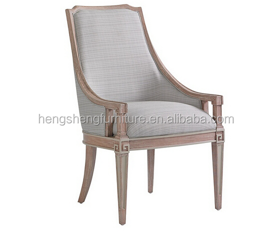 living room furniture solid oak wood fabric chair with arm