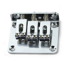 High quality 3-String Adjustable Chrome Guitar Bridge Tailpiece New