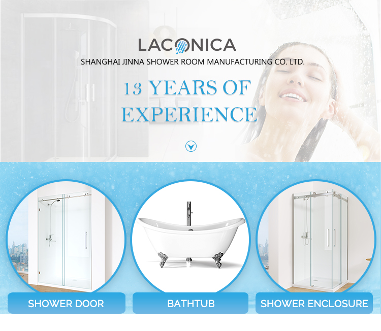 China Wholesale High-quality  Frameless Frameless 6mm Hinged Shower Doors for Sale