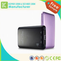 2015 new portable metal case power bank mobile phone power bank water powered mobile charger