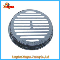 Round channel gully grate/cast iron drainage gully grate/ductile iron
