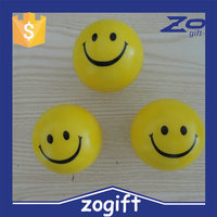 ZOGIFT PU foam squeeze stress smile face ball