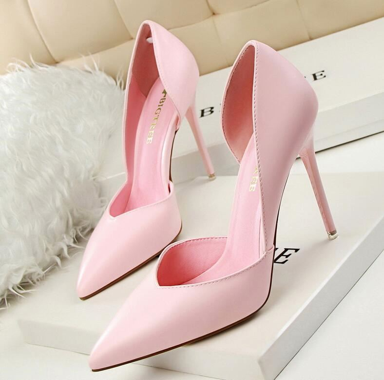 Wholesale Red Pink women's high heel party shoes