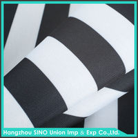 Customize wholesale outdoor waterproofness sunlight fastness striped polyester awning fabric manufacturers in china