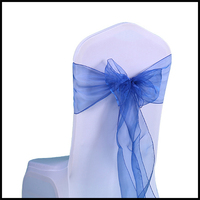 factory outlet Wedding decoration Plain Style organza fancy chair sashes for wedding