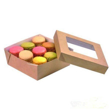 Wholesale Food Grade Macaroon Brown Container