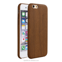 Friendly ECO wood grain leather phone case for iphone6 wood case
