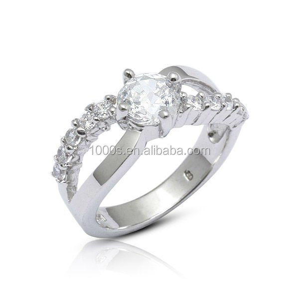 Fashion 925 Sterling Silver Jewelry, Engagement CZ Jewellery Solid 925 Silver Ring