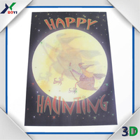 3D lenticular print decoration picture ,3D poster ,customized 3D festival card