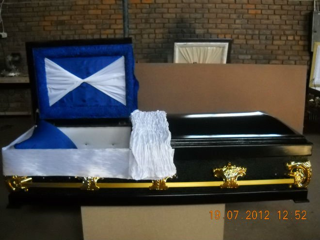 casket and coffin