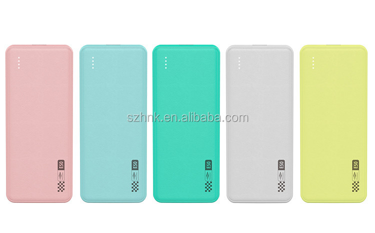 Factory fast charging power bank 4000 4400 5000 5200 6000 mah power bank for MI iphone samsung smartphone