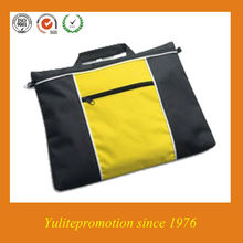 polyester zipper document bag with customer logo for promotion
