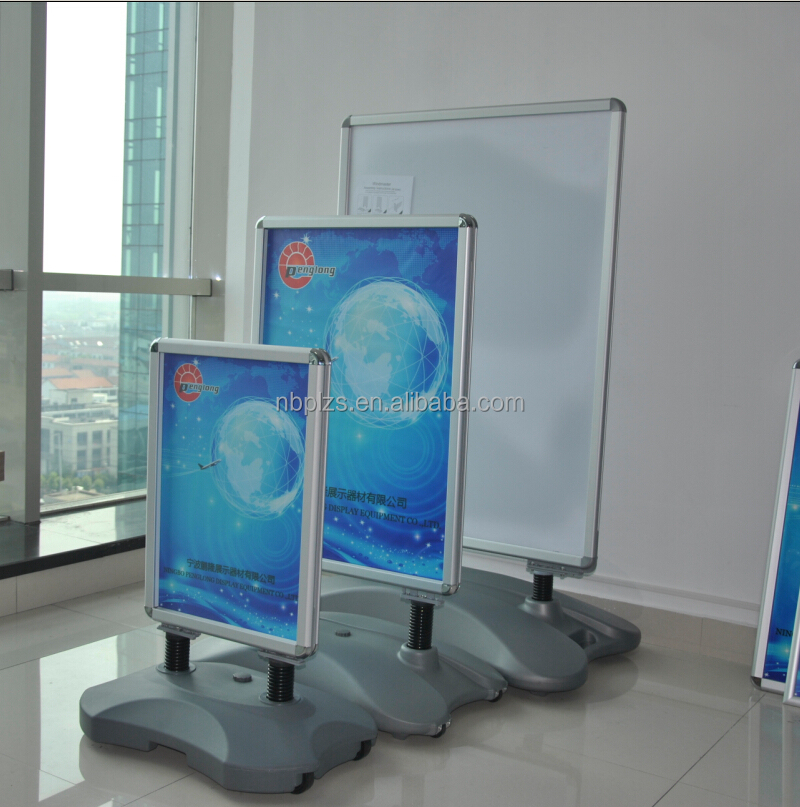 Hot aluminum frame standing,advertising poster display stands,<strong>a0</strong> durable sidewake display