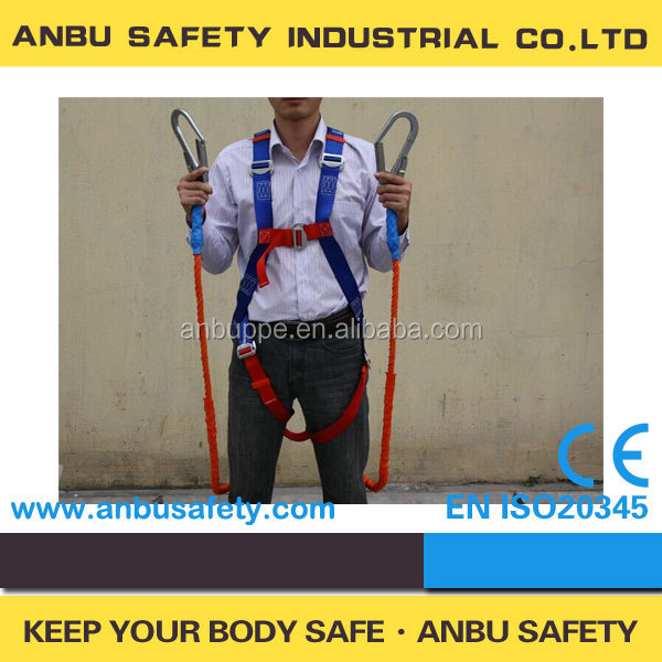 Construction safety belt full body harness