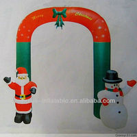 Outdoor inflatable christmas decoration/inflatable santa snowman