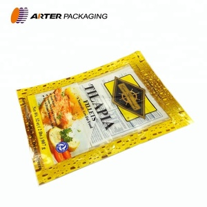 custom printed three side seal frozen food grade nylon plastic packaging vacuum bag for packing for food