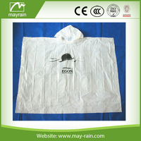 PE or PEVA Material and Raincoats Type logo printed Rain poncho