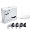 4 channel 720P Wireless Surveillance DVR kit 36 pcs IR LEDs metal housing working day & night 3.6 mm lens