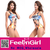 Unique popular Harry Porter printed one piece swimsuit models pictures