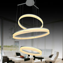 Large 3-ring modern led pendant lights