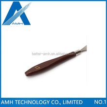 Stainless Steel Blade with Wood Handle Pry Opening Scraper , PCB BGA Cleaning Tool