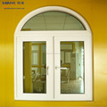 Latest arched aluminum glass casement french window