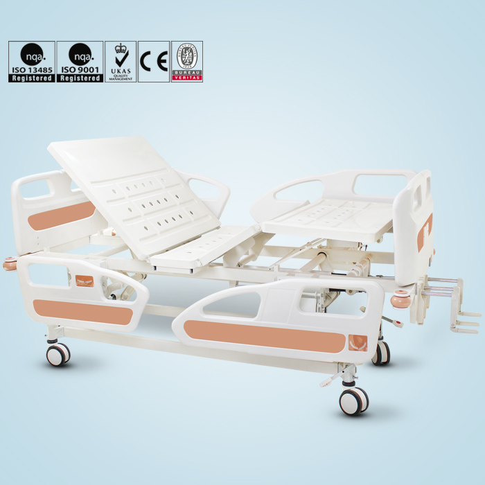 Buy multi function medical elderly care 3 crank manual hospital bed