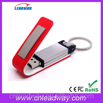 whole sale new design leather usb with key chain