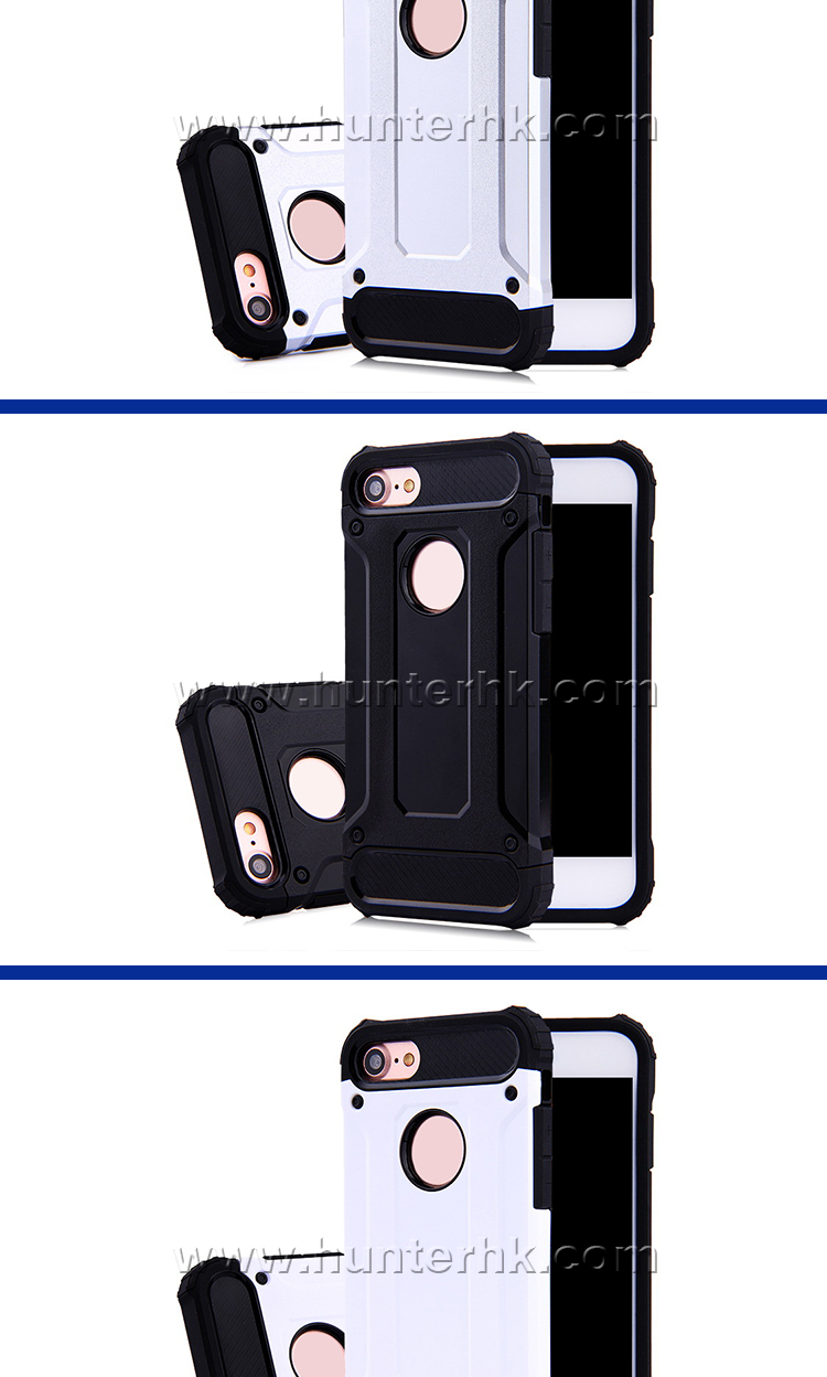 Black Color Heavy Duty Case For iPhone 8