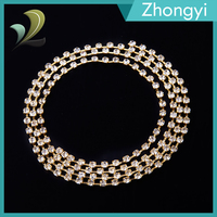 Trade Assurance Garment Accessories Rhinestone Crystal Cup Chain