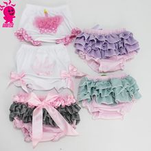 Wholesale baby clothes,hot sale new born infant pretty strip baby bloomer with bow