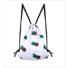 White yellow and red fruits printed bee durable travel backpack