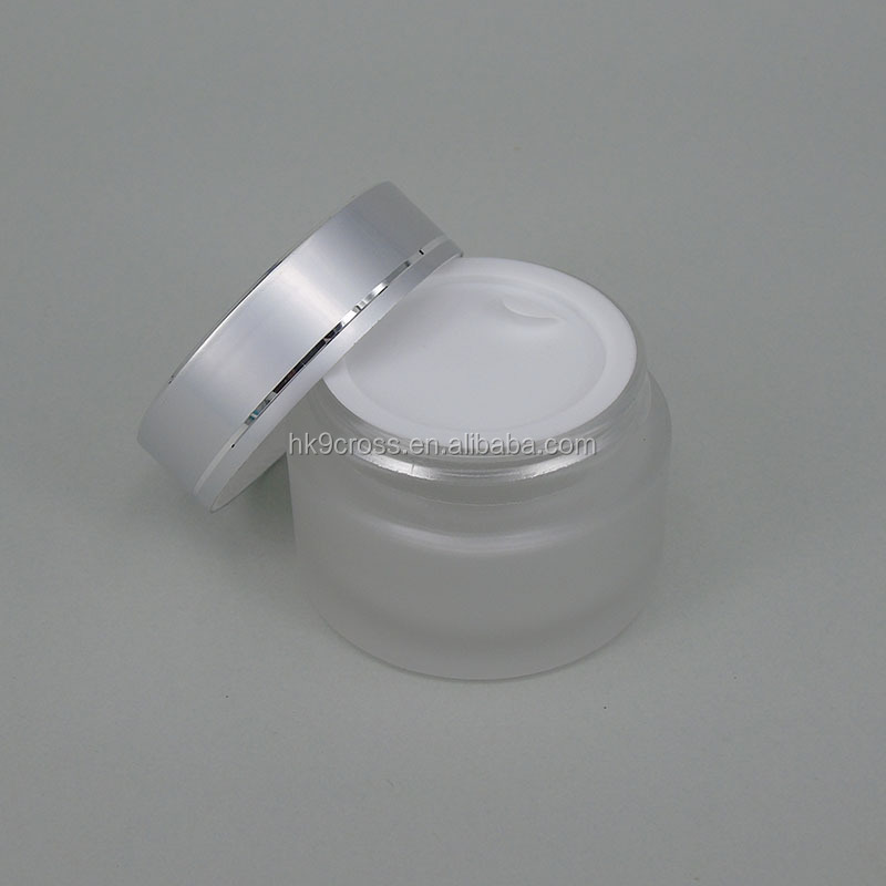 glass jars 30ml frosted glass make up cosmetics bottle for skin care cream