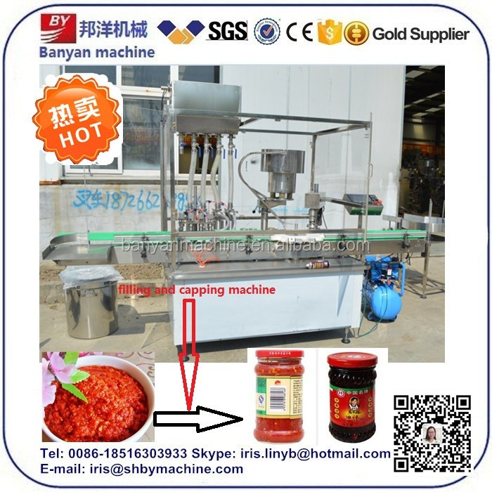 2017 On Sale China Filling machine manufacturing company and chilli sauce filling machinery