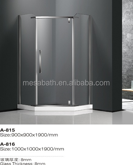 Modern style cheap free standing custom hinge shower glass enclosures made in China