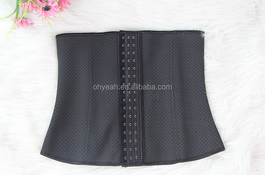 9 spiral steel bones latex vest waist trimmer