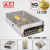 MS-240-24 Mini size 5a 48v 240w led switching power supply for tablet pc/cctv