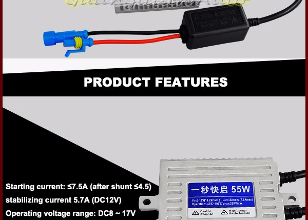 Newest ballast Guangdian auto A18 FAST BRIGHT canbus hid ballast 55W for all cars!